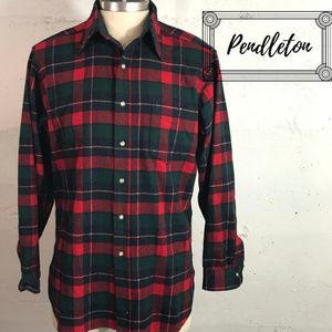 Men's VTG Plaid Pendleton Auth. Tartan Shirt Sz. L